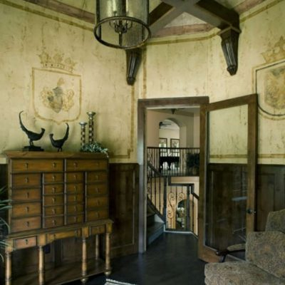 Детали кабинета классики стиля