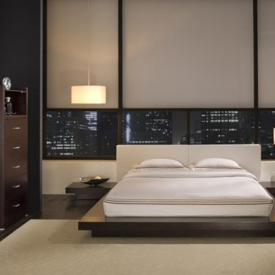 Шикарная кровать в интерьере