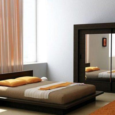 75Японский стиль мебели в спальной комнате