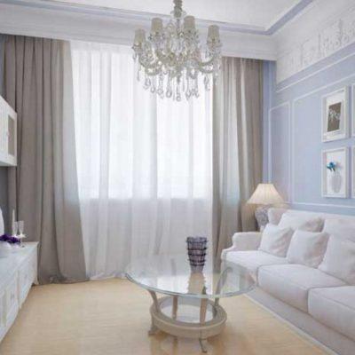 Светлые классические шторы на фото