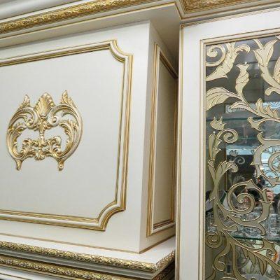 Роспись гарнитура кухонного барокко стиля