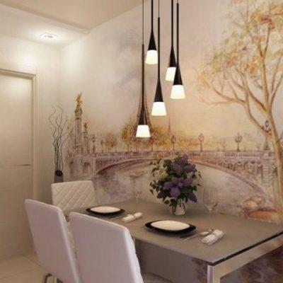 Фотообои в прованс стилев интерьере кухни