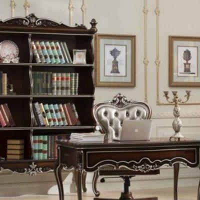 Книжная полка в кабинете