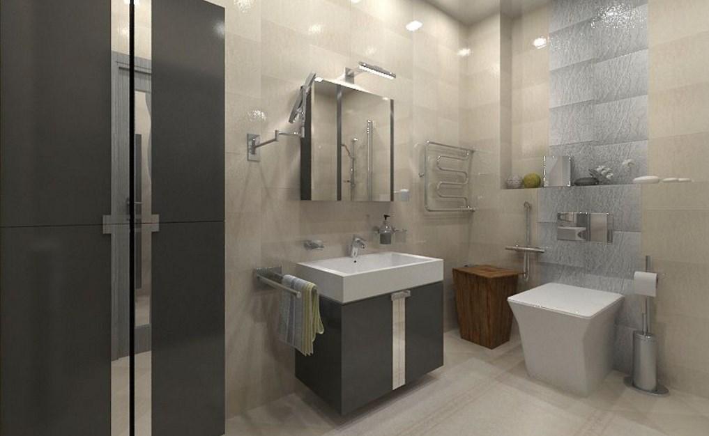 Строгая мебель в ванной