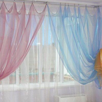 Тонкие шторы на фото