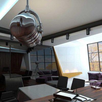 Столы в кабинете в хай тек