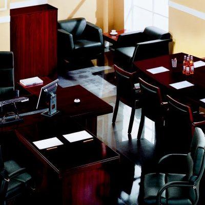 Интерьер кабинета с современной мебелью на фото примере