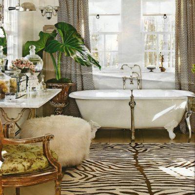 Растения в ванной