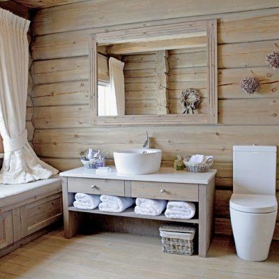 Кантри стиль ванной