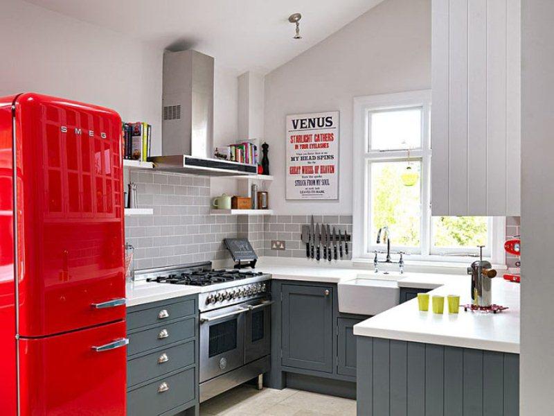 Красный акцент на кухне