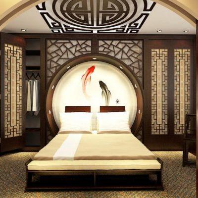Интересная фен шуй спальня