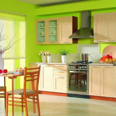 Яркая кухня по фен шуй