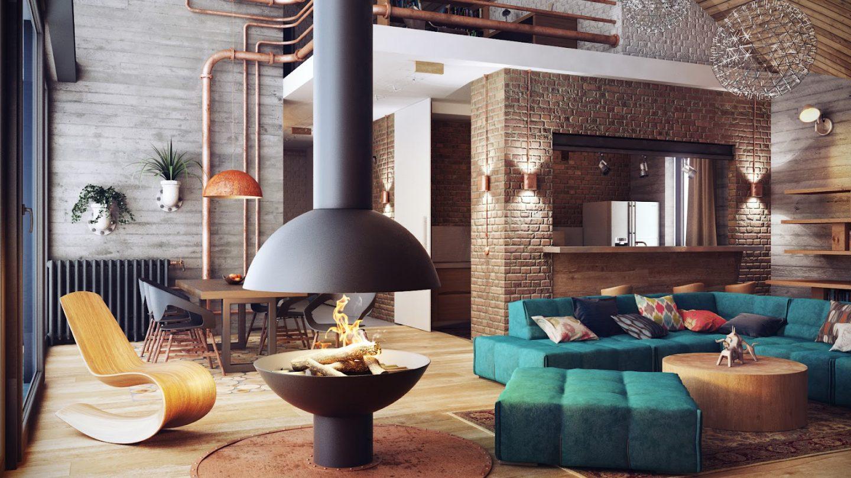 Квартирный тур: комната в стиле лофт