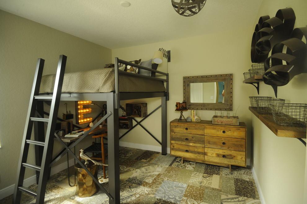 Комната в стиле лофт для молодого человека