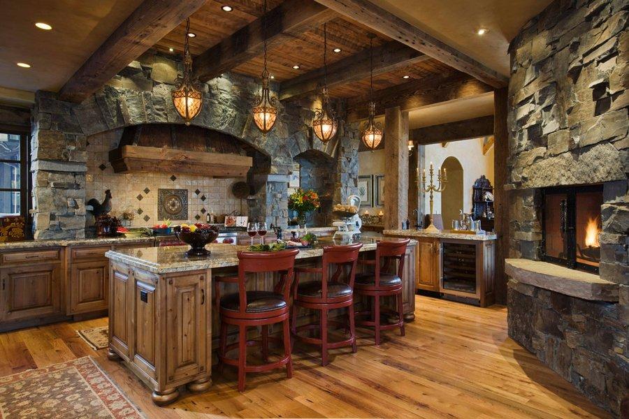 Кухня в стиле шале: сочетание горной свежести и простоты сельского кантри