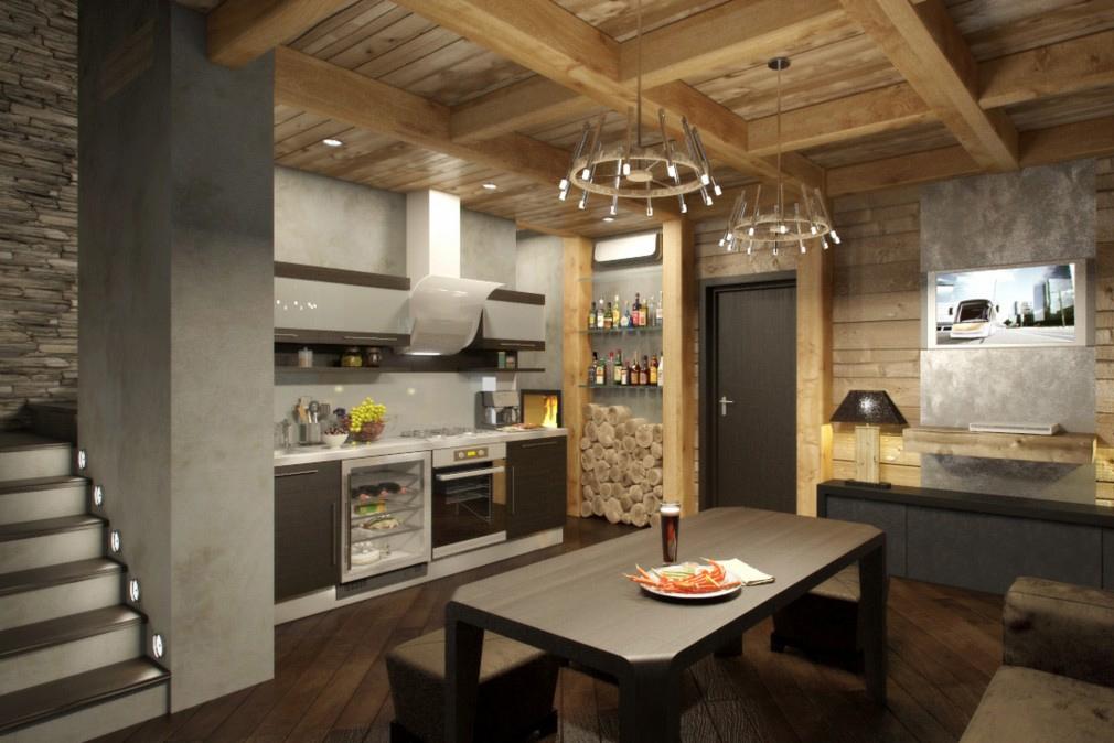 Несмотря на то, что шале - это сельский стиль, в нем можно оформить и городскую квартиру