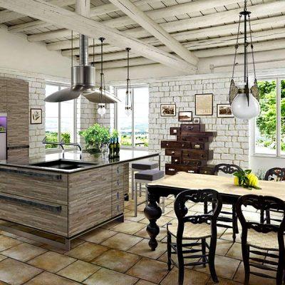 мебель в стиле прованс на кухне