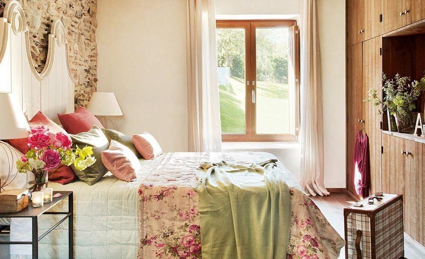 Оформление спальни в шебби стиле