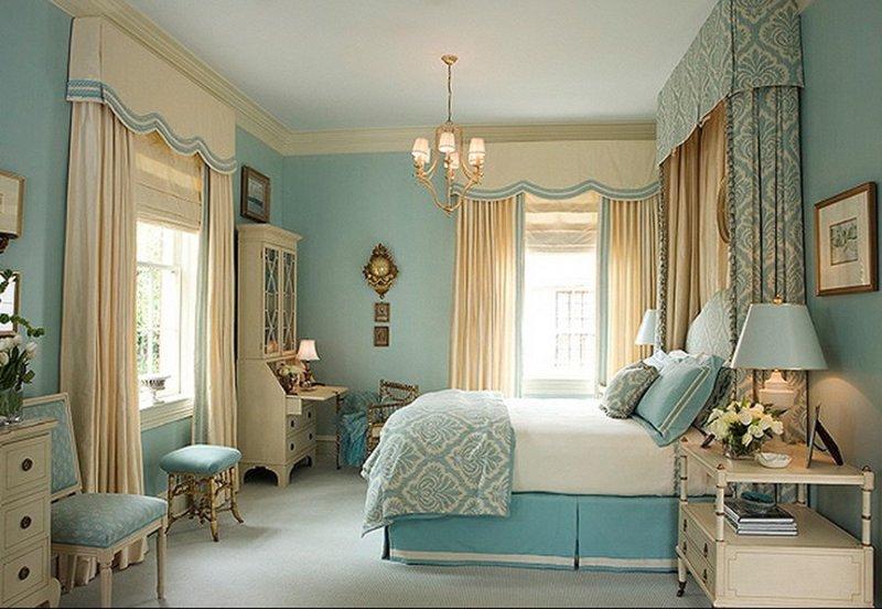 Оформление спальни в шебби