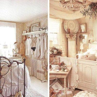 Детали шебби стиля для спальни