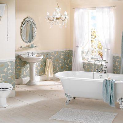 Стильная ванная комната в английском духе