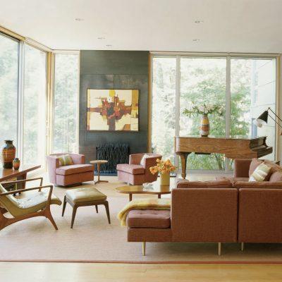 Фотография гостиной в стиле модерн