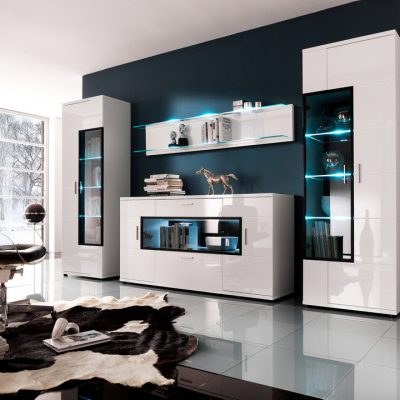 Стенка в стиле модерн в гостиной