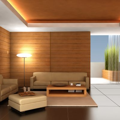 Стиль модерн для дизайна гостиной