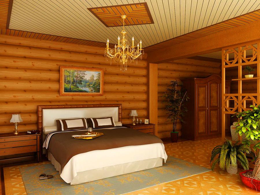 Каким сделать потолок в деревянном доме