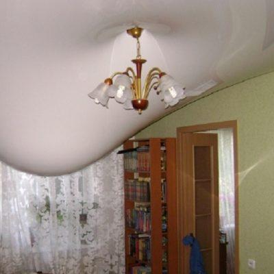 Затоп натяжного потолка