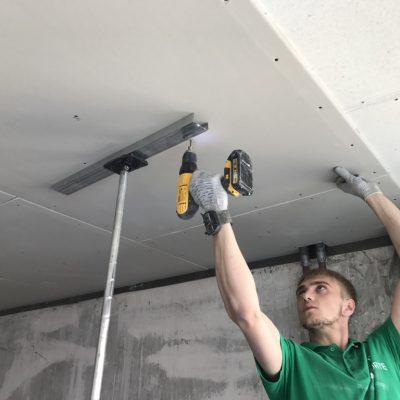 Звукоизоляция потолка подвесного