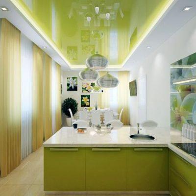 Кухня с потолком
