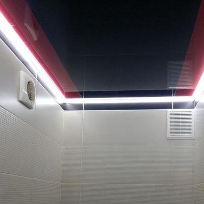 Лед подсветка потолка в ванной