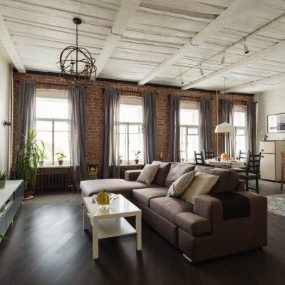 Лофт потолок белый