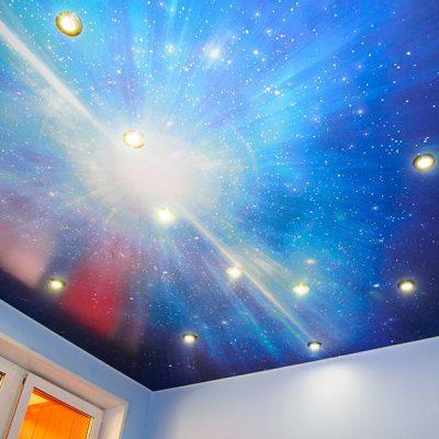 Натяжной потолок со звёздами