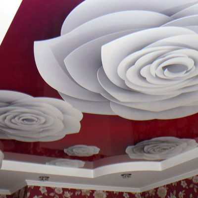 Натяжные потолки с розами
