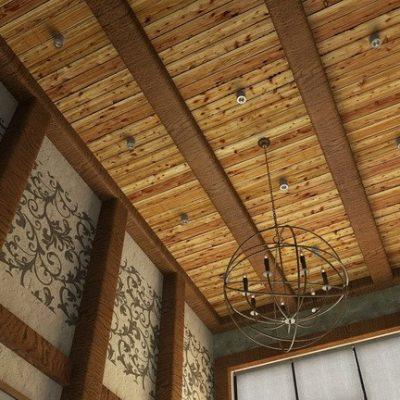 Отделка потолка в доме