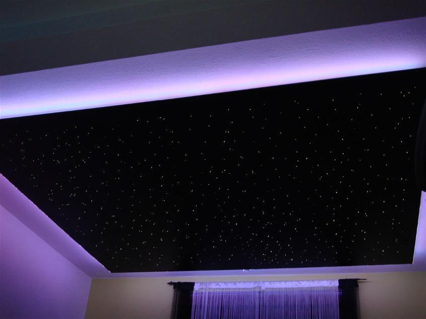 Навесные потолки звездное небо фото