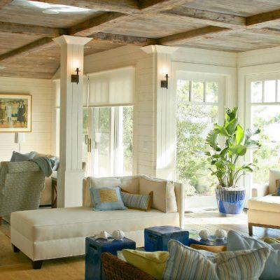 Потолки в домах из дерева