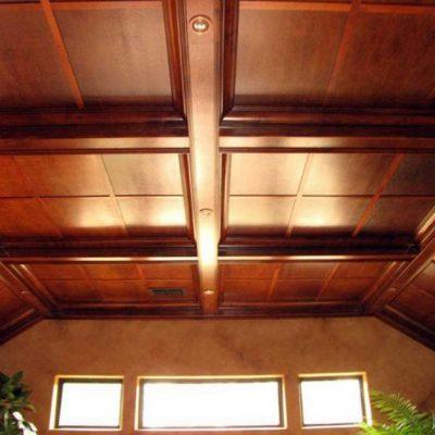 Потолки из дерева