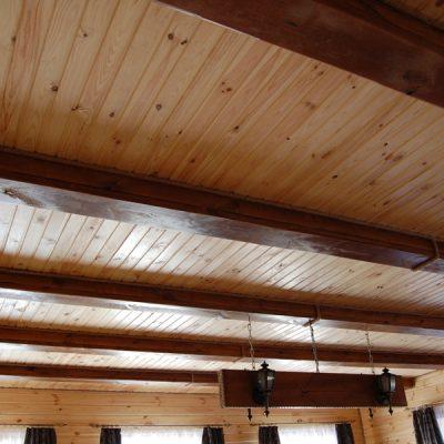 Потолок из вагонки
