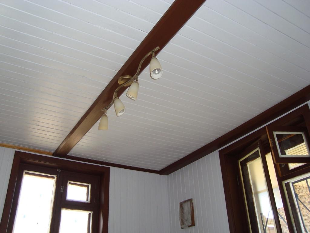 вагонка с натяжным потолком фото