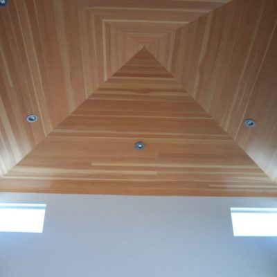 Потолок из ламината дома