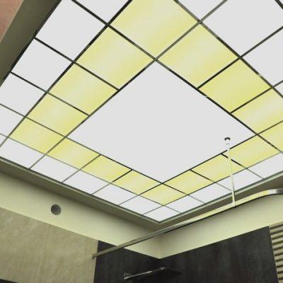 Потолок из стекла фото