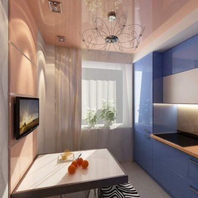 Потолок на маленькой кухне