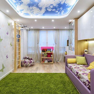 Потолок небо в детской