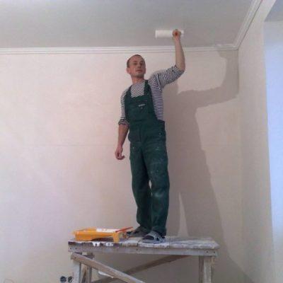 Потолок побелка