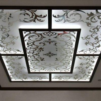 Потолок со стёклами