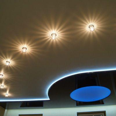 Потолок с подсветкой фото потолка