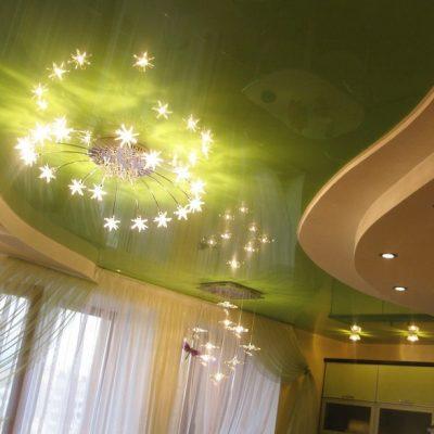 Салатовый потолок